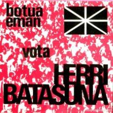Adesivi di collezione: PEGATINA POLITICA VASCA VOTA HB HERRI BATASUNA. Lote 200878518