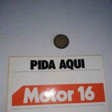 Adesivi di collezione: PEGATINA PRENSA REVISTA PERIÓDICO MOTOR 16. Lote 201211717