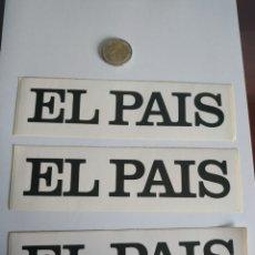 Adesivi di collezione: PEGATINA PRENSA PERIÓDICO EL PAÍS. Lote 201248586