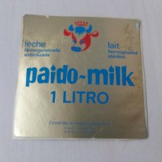 Autocolantes de coleção: PEGATINA - PAIDO MILK LECHE LAIT 1 LITRO - 9 CM. Lote 203214080