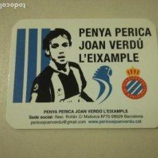 Autocolantes de coleção: RCD ESPANYOL STICKER PEGATINA FUTBOL FOOTBALL GATE. Lote 203382307