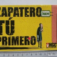 Pegatinas de colección: STICKER PEGATINA EL JUEVES ZAPATERO TU PRIMERO HIJOS DE LA GRAN CRISIS. Lote 204259255