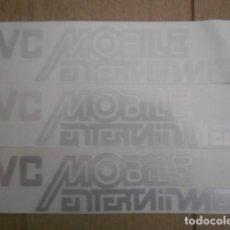 Pegatinas de colección: 3 PEGATINAS CAR AUDIO JVC MOBILE ENTERTAIMENT. Lote 205036345