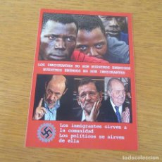 Autocollants de collection: PEGATINA POLITICA EXTREMA DERECHA. Lote 205062310