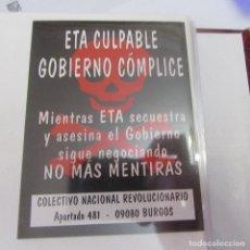 Adesivi di collezione: PEGATINA POLITICA. Lote 205311175
