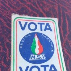 Pegatinas de colección: PEGATINA POLÍTICA,NACIONAL REVOLUCIONARIA,ITALIA,MSI,ARTÍCULO DE COLECCIONISMO. Lote 205842993