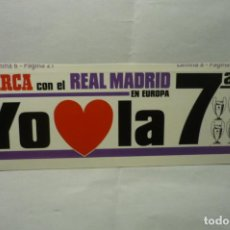 Autocollants de collection: PEGATINA MARCA REAL MADRID. Lote 205852676