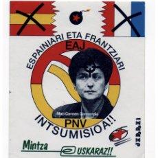 Adesivi di collezione: PEGATINA POLITICA VASCA - JARRAI. Lote 206339675