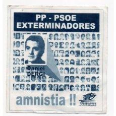 Adesivi di collezione: PEGATINA POLITICA VASCA - JARRAI. Lote 206355553