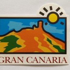 Pegatinas de colección: PEGATINA ADHESIVO STICKER PATRONATO DE TURISMO DE GRAN CANARIA. AÑOS 80. Lote 206831700