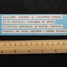 Pegatinas de colección: PEGATINA MADRILEÑO CONSERVA EL PATRIMONIO NATURAL.... Lote 207142590