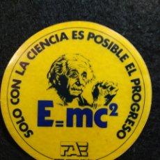 Pegatinas de colección: PEGATINA FORUM ATÓMICO ESPAÑOL E=MC2. Lote 207143106