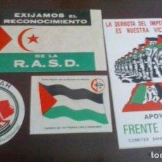 Pegatinas de colección: SAHARA- PALESTINA. Lote 207192456