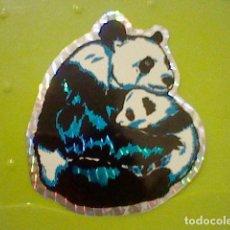 Pegatinas de colección: PANDA HOLOGRAMA ADHESIVO PEGATINA SIN PEGAR 10,5 CMS APROX VINTAGE RETRO 80´S. Lote 207228916