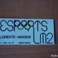 Pegatinas de colección: ADHESIVO PEGATINA ESPORTS LORENTE-MAGEM LM2. BERGA. Lote 207339512