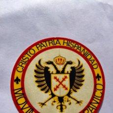 Pegatinas de colección: PEGATINA POLÍTICA TRANSICIÓN,FUERZA NUEVA,CARLISTA,FALANGE,FRANCO,FRANQUISTA AÑOS 70/80. Lote 207985860