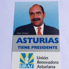 Pegatinas de colección: ANTIGUA PEGATINA POLÍTICA TRANSICIÓN POLÍTICA RARA,ASTURIAS. Lote 208255048