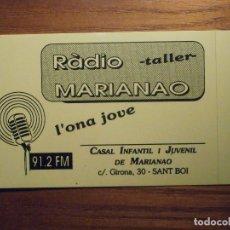 Pegatinas de colección: ADHESIVO - STICKER - CADENA - RADIO MARIANAO, SANT BOI, 91.2 FM, EMISORAS, DIFUSIÓN PROPAGANDA. Lote 208312857