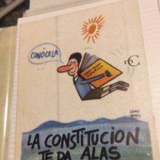 Pegatinas de colección: PEGATINA POLÍTICA CONSTITUCIÓN ESPAÑOLA 1978. Lote 208786085