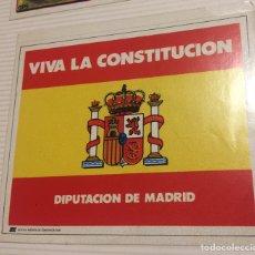 Pegatinas de colección: PEGATINA POLÍTICA CONSTITUCIÓN ESPAÑOLA 1978. Lote 208801458