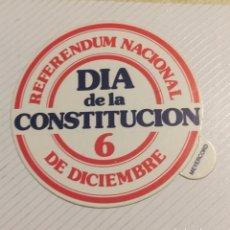 Pegatinas de colección: PEGATINA POLÍTICA CONSTITUCIÓN ESPAÑOLA 1978. Lote 208801485