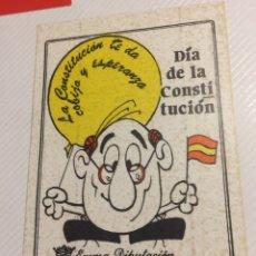 Pegatinas de colección: PEGATINA POLÍTICA CONSTITUCIÓN ESPAÑOLA 1978. Lote 208801545