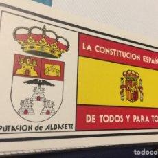Pegatinas de colección: PEGATINA POLÍTICA CONSTITUCIÓN ESPAÑOLA 1978. Lote 208801570