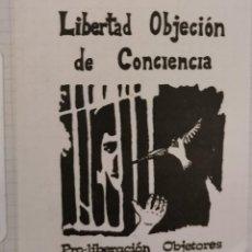 Pegatinas de colección: ANTIGUA PEGATINA AÑOS 70 / 80 POLITICA RARA LIBERTAD OBJECION DE CONCIENCIA. Lote 209109245