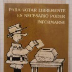 Pegatinas de colección: PEGATINA POLITICA, UNION DE SOLDADOS DEMOCRATAS , AÑOS 70, MUY RARA. Lote 209134948