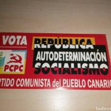Pegatinas de colección: ANTIGUA PEGATINA PARTIDO COMUNISTA DEL PUEBLO CANARIO - PCPC. Lote 209212016