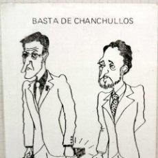 Pegatinas de colección: ANTIGUA PEGATINA POLITICA, BASTA DE CHANCHULLOS, LCR IV INTERNACIONAL. Lote 209259300