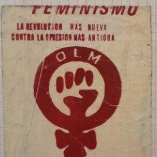 Pegatinas de colección: ANTIGUA PEGATINA POLITICA,O.L.M. ORGANIZACION LIBERACION DE LA MUJER. Lote 209266808