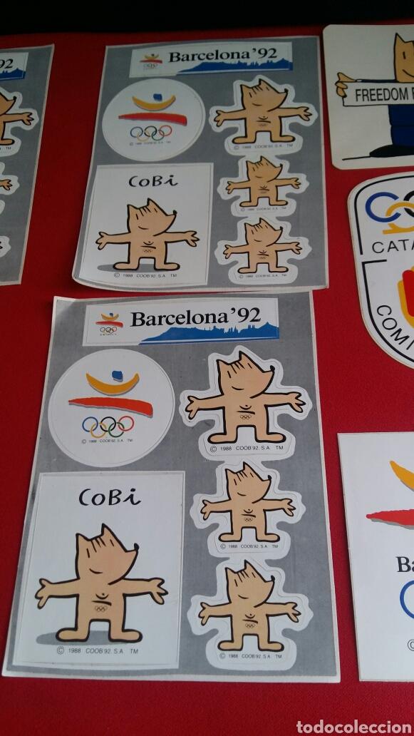 Pegatinas de colección: Lote de 10 pegatinas de las mascotas de la cobi olimpic Barcelona 92 . - Foto 2 - 209419668