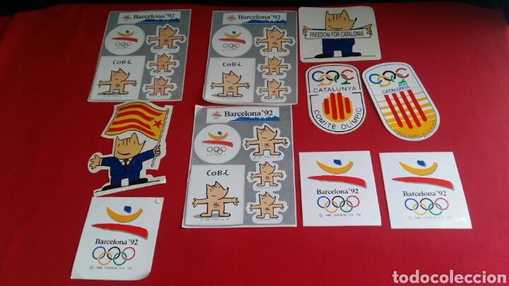 LOTE DE 10 PEGATINAS DE LAS MASCOTAS DE LA COBI OLIMPIC BARCELONA 92 . (Coleccionismos - Pegatinas)