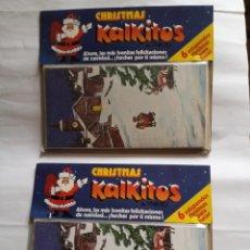 Pegatinas de colección: KALKITOS 2 PAQUETES IGUALES, SIN ABRIR PERFECTOS. Lote 209587198