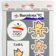 Pegatinas de colección: PEGATINAS DE LAS OLIMPIADAS DE BARCELONA 1992. COBI. Lote 209914915