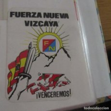 Pegatinas de colección: PEGATINA POLITICA TRANSICION FUERZA NUEVA. Lote 210051882