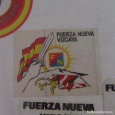 Pegatinas de colección: PEGATINA POLITICA TRANSICION FUERZA NUEVA. Lote 210051888