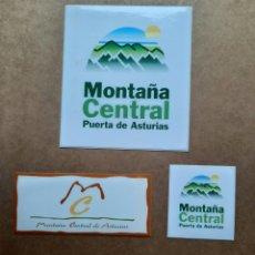 Pegatinas de colección: LOTE PEGATINAS MONTAÑA CENTRAL DE ASTURIAS. Lote 210056382