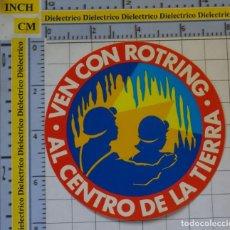 Pegatinas de colección: PEGATINA DE DEPORTE. MONTAÑISMO. ESPELEOLOGÍA. VIAJE AL CENTRO DE LA TIERRA. BOLÍGRAFOS ROTRING. 28. Lote 210256738