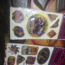 Pegatinas de colección: 3 BLISTERS ADESHIVAS STICKERS SERIE CANTANTES BACKSTREET BOYS. Lote 210303283