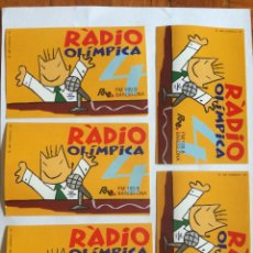 Pegatinas de colección: LOTE 5 PEGATINAS 1988 MASCOTA COBI DE J MARISCAL RADIO OLIMPICA 4 RNE FM 100.8 BARCELONA COOB 92. Lote 210335408