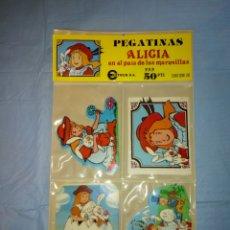 Pegatinas de colección: PEGATINAS ANTIGUAS DE ALICIA EN EL PAIS DE LAS MARAVILLAS COMPLETAMENTE ORIGINAL Y COMPLETO.. Lote 210787150
