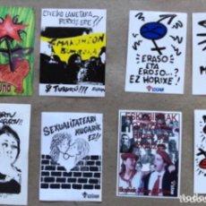 Pegatinas de colección: LOTE DE 8 PEGATINAS DEL COLECTIVO FEMINISTA DE LA IZQUIERDA ABERTZALE. EGIZAN (AÑOS 90).. Lote 211439774
