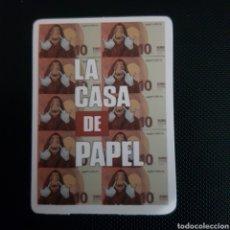 Pegatinas de colección: PEGATINA - ADHESIVO - DE LA SERIE LA CASA DE PAPEL - APROX 5X5 - TDKP14. Lote 211604530