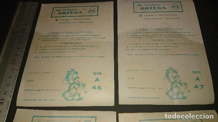 Pegatinas de colección: 4 HOJITAS ANTIGUAS DE CALCOMANIAS ORTEGA , LEER DESCRIPCION - Foto 3 - 213756928