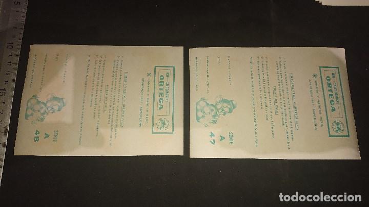Pegatinas de colección: 2 HOJITAS ANTIGUAS DE CALCOMANIAS ORTEGA , LEER DESCRIPCION - Foto 2 - 213756946