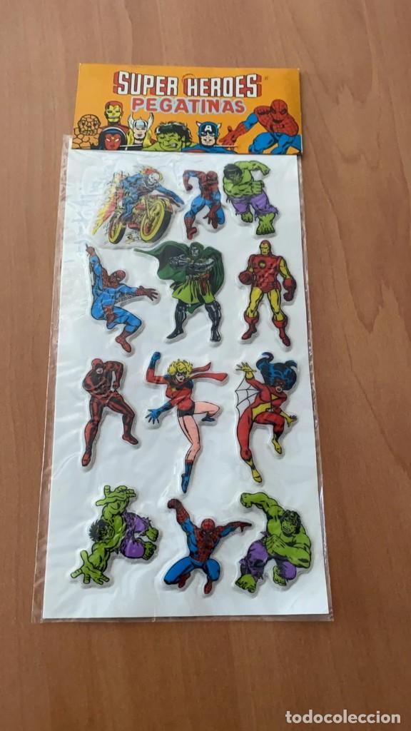 Pegatinas de colección: LOTE 2 SETS DE PEGATINAS SUPER HEROES MARVEL. SIN ESTRENAR. DE 1981. PROMO VIP MUNDUS TRADER S.A. - Foto 2 - 213760076