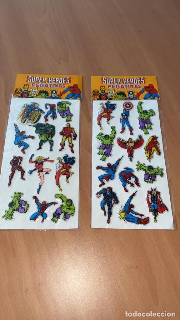 Pegatinas de colección: LOTE 2 SETS DE PEGATINAS SUPER HEROES MARVEL. SIN ESTRENAR. DE 1981. PROMO VIP MUNDUS TRADER S.A. - Foto 5 - 213760076