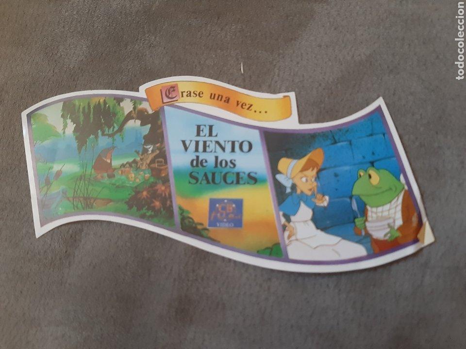 PEGATINA EL VIENTO DE LOS SAUCES (15 X 09 CM) (Coleccionismos - Pegatinas)